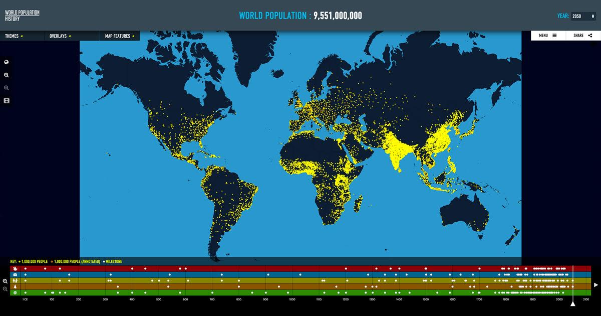 World Population An Interactive Experience World Population - Interactive global map